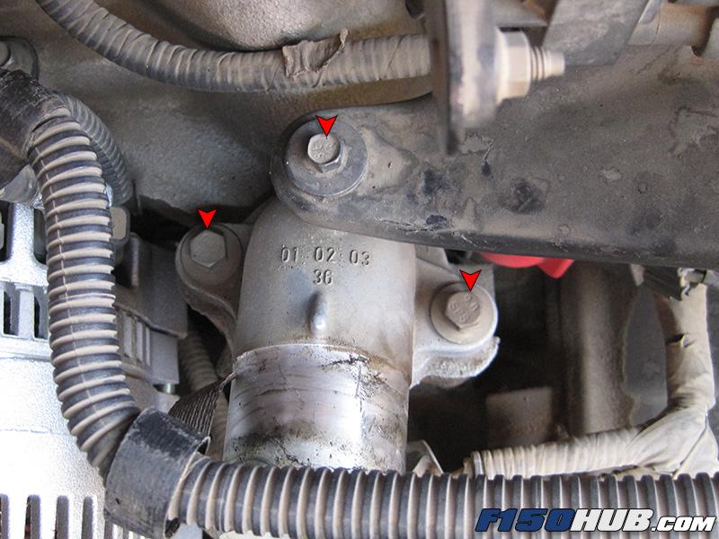 diy ford f 150 cooling system flush service rh f150hub com 1998 Ford 5.4L Engine Diagram 1998 Ford 5.4L Engine Diagram