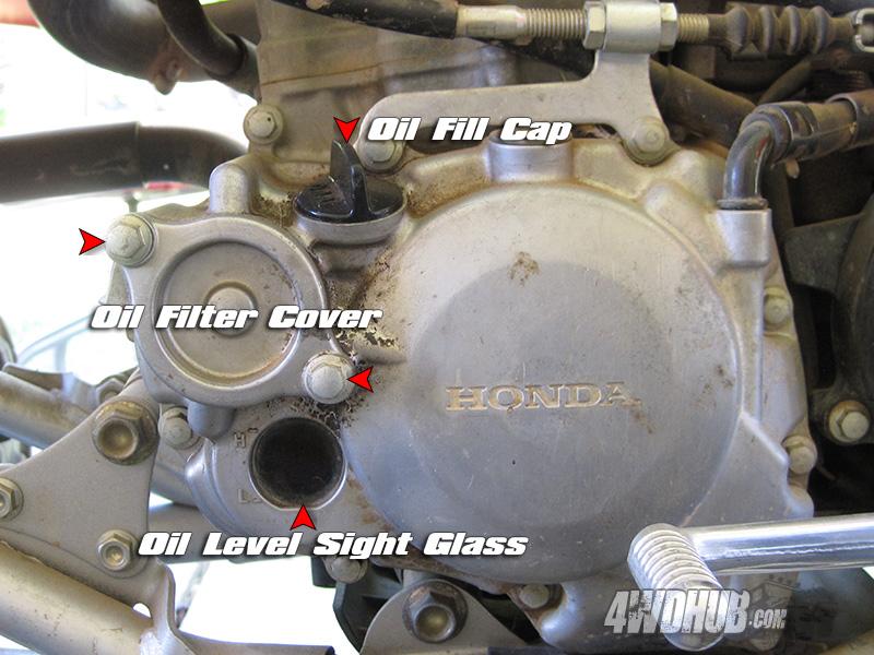 Honda Trx450r Oil Change Procedures